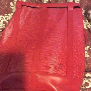 Louis Vuitton Bucket Bag (Red)